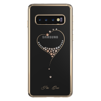 Чехол с Swarovski Kingxbar Wish для Galaxy S10 Plus Золото